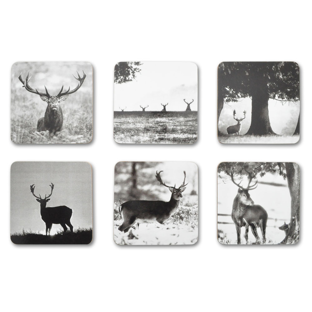 Country Matters Stag Scene Coasters Set of Six
