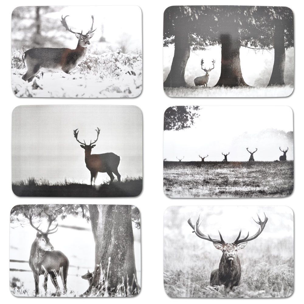 Country Matters Stag Scene Placemats Set of Six
