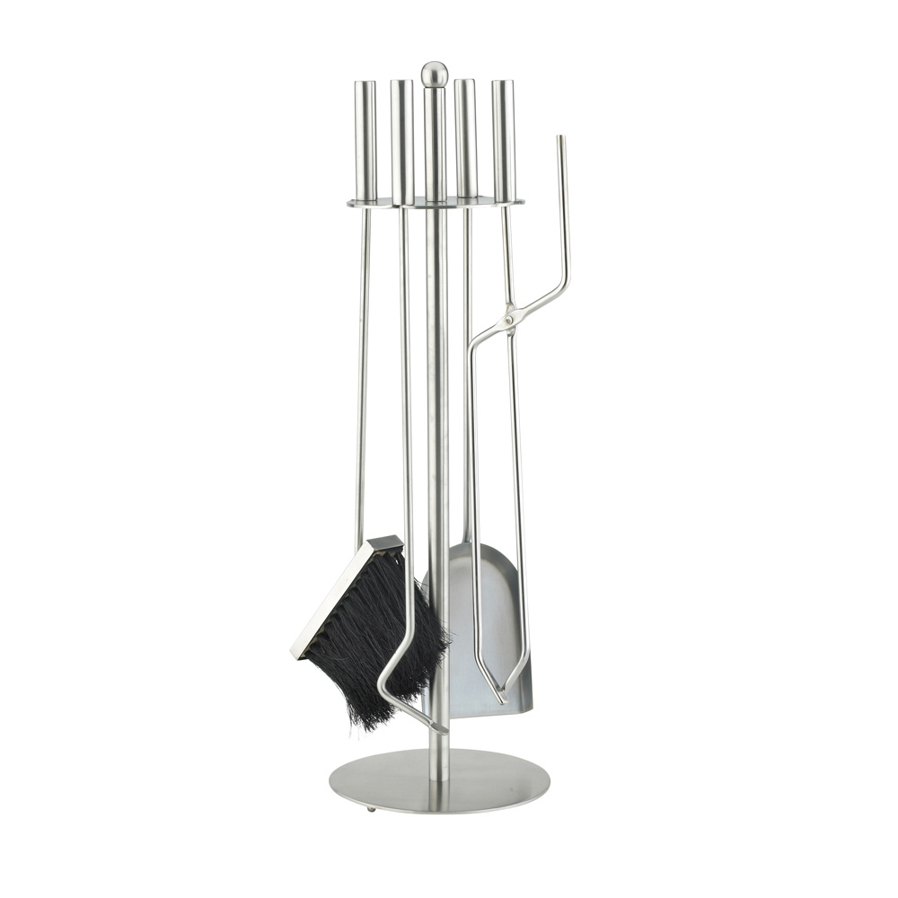 Stainless Steel 5 Piece Fireside Companion Set