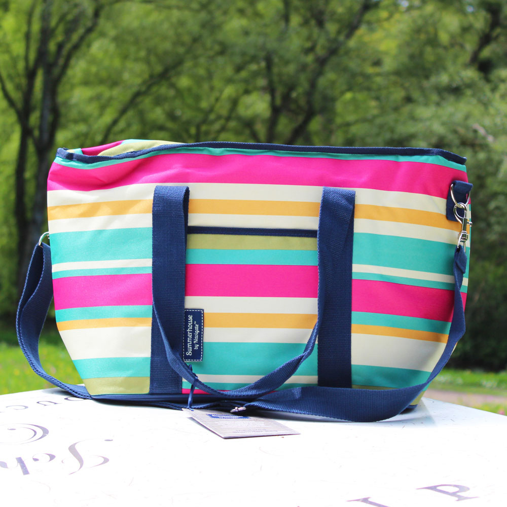 Stripe Insulated Shoulder Bag