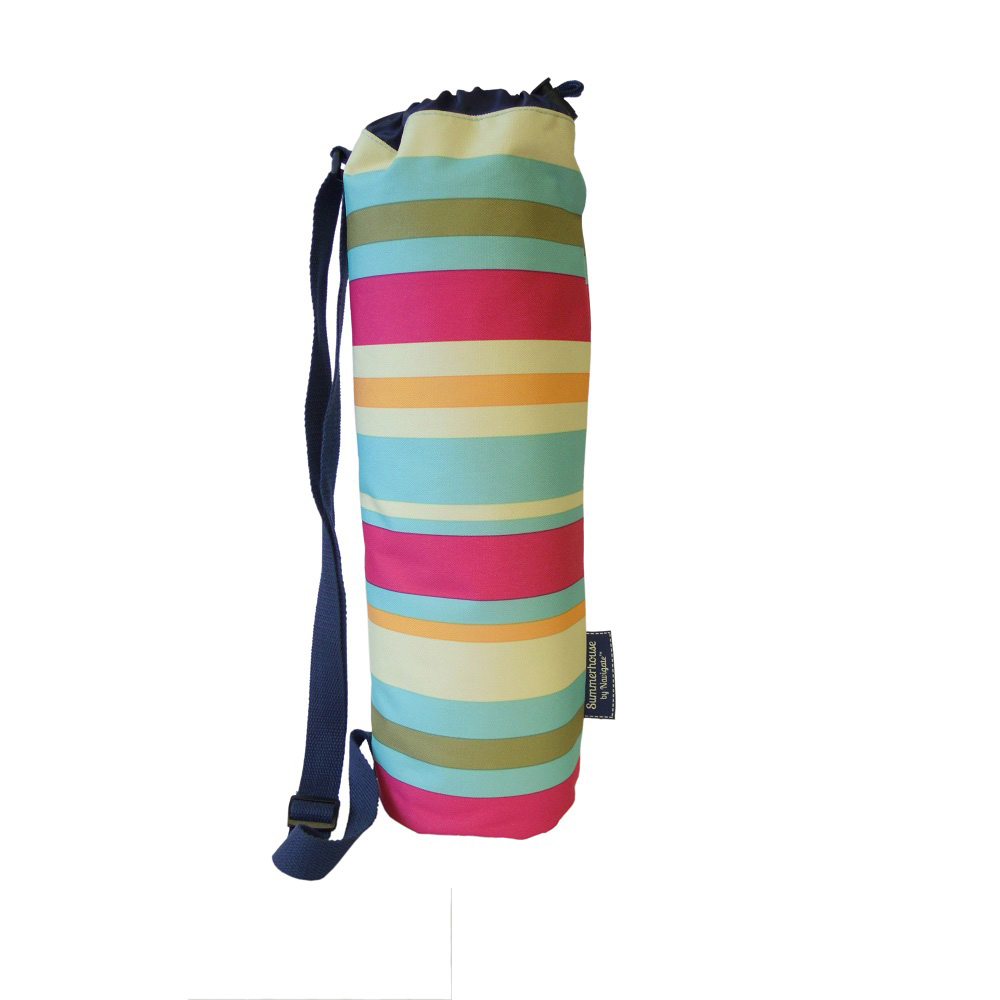 Picnic Blanket in Stripe Duffle Bag