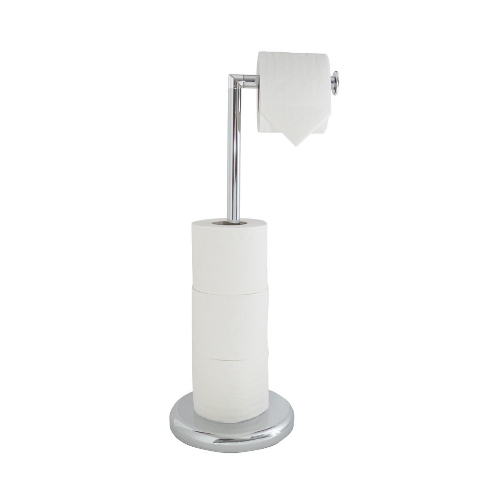 Swivel Top Chrome Effect Toilet Roll Holder