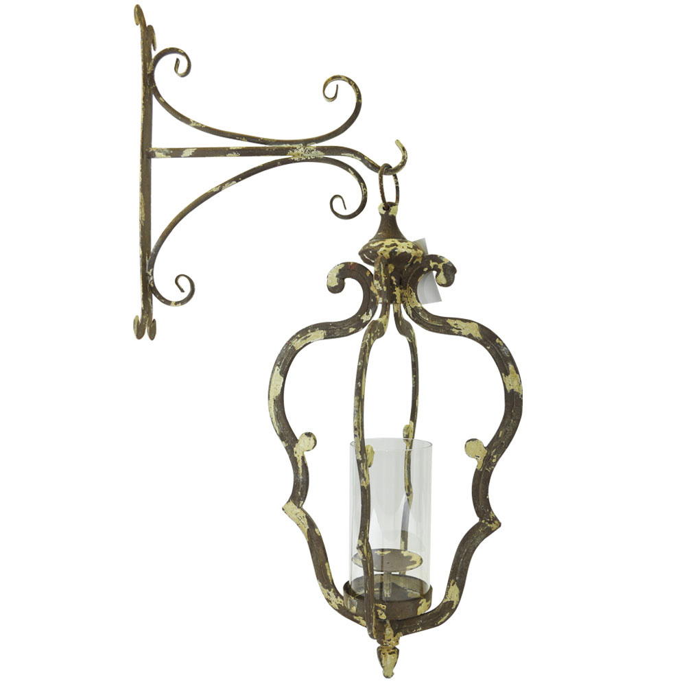 Wall Lantern in Distressed Rustic Style