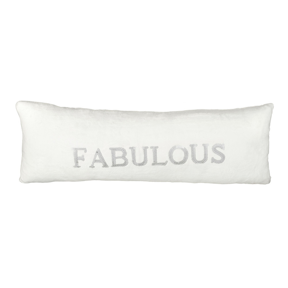 White and Silver Fabulous Cushion