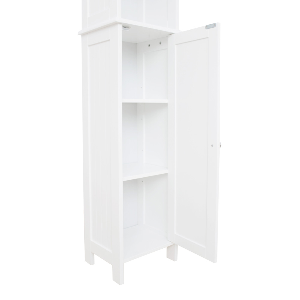 White Shaker Tall Boy Cabinet