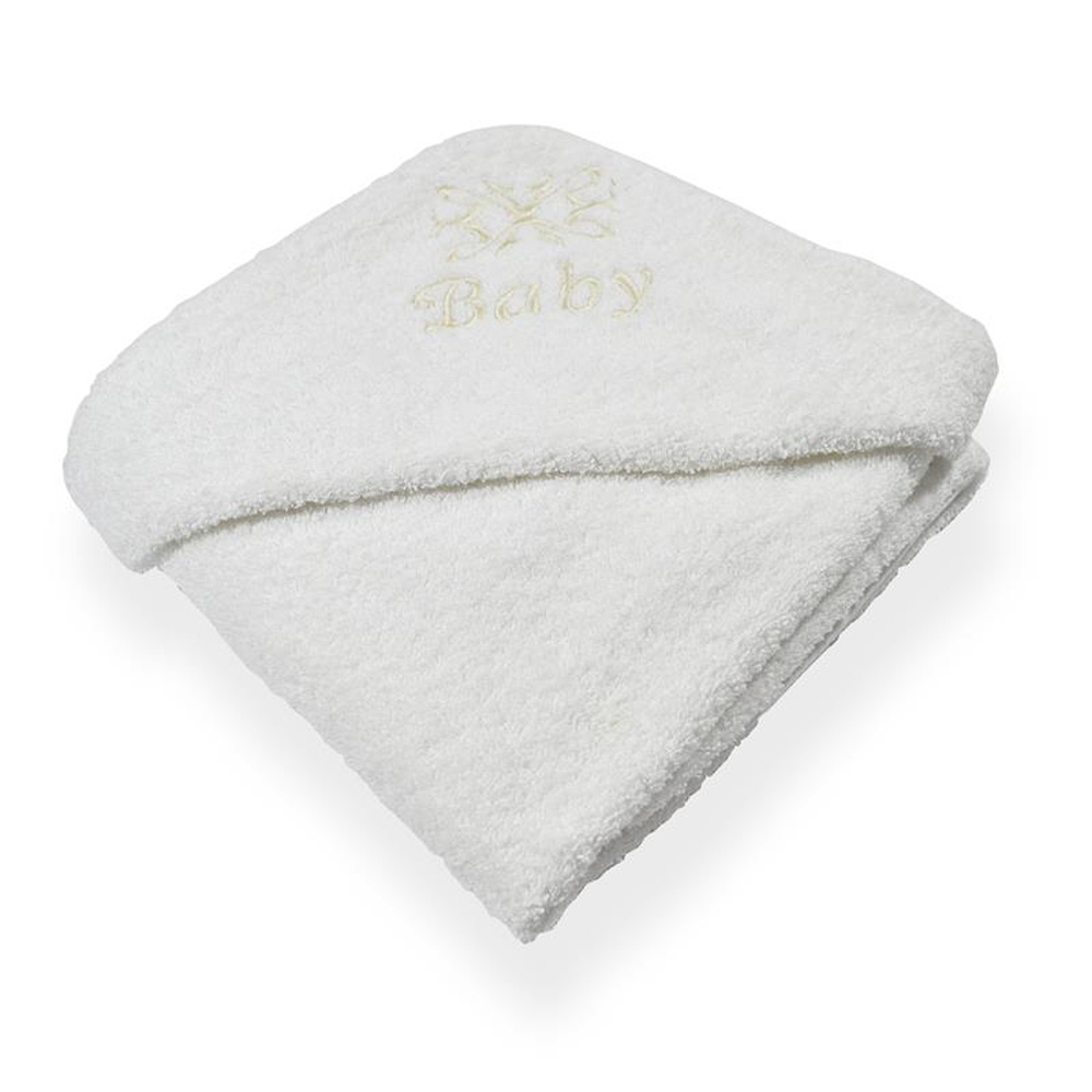White Hooded Baby Bath Towel