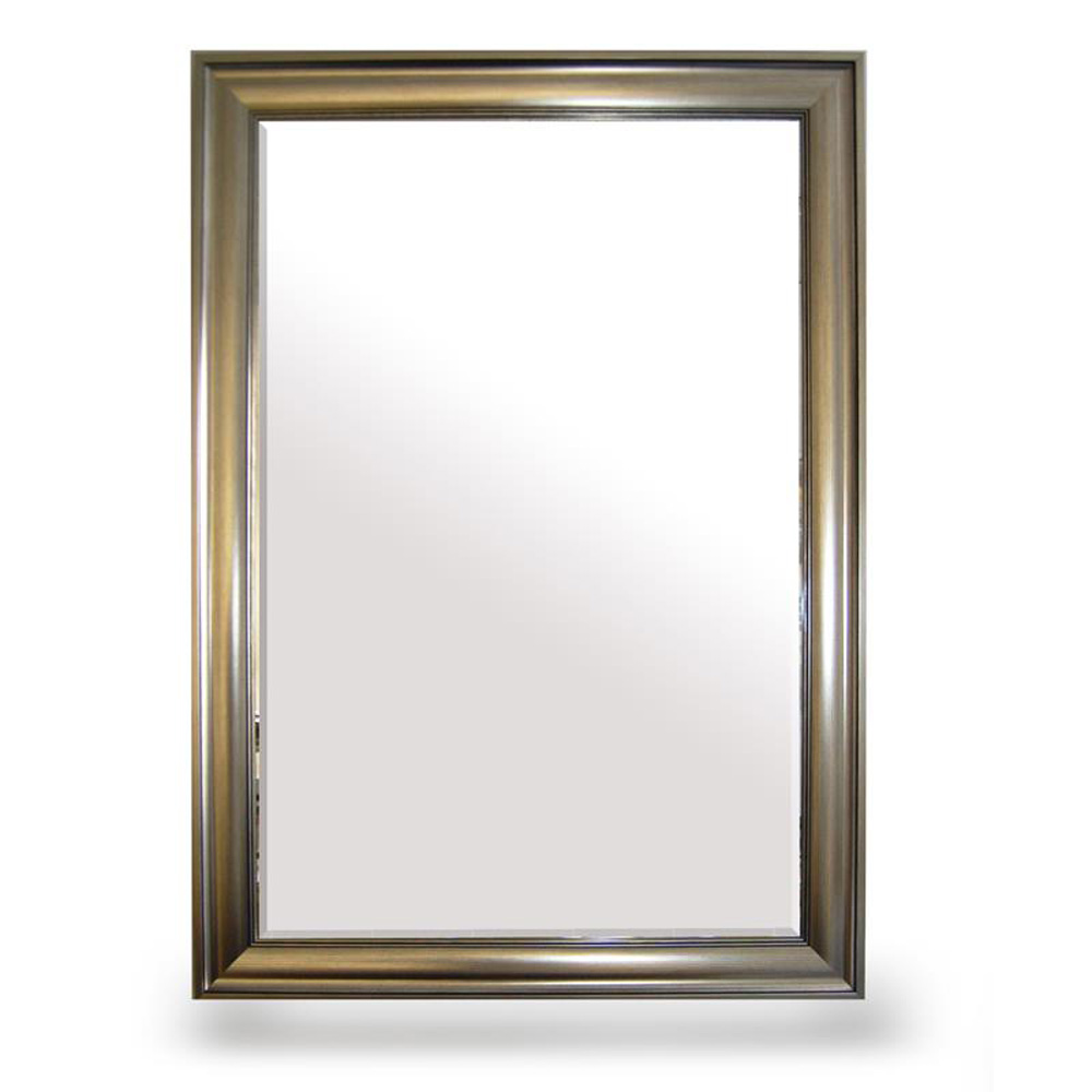 Bevelled silver framed large wall mirror roman at home for Large framed mirrors for walls