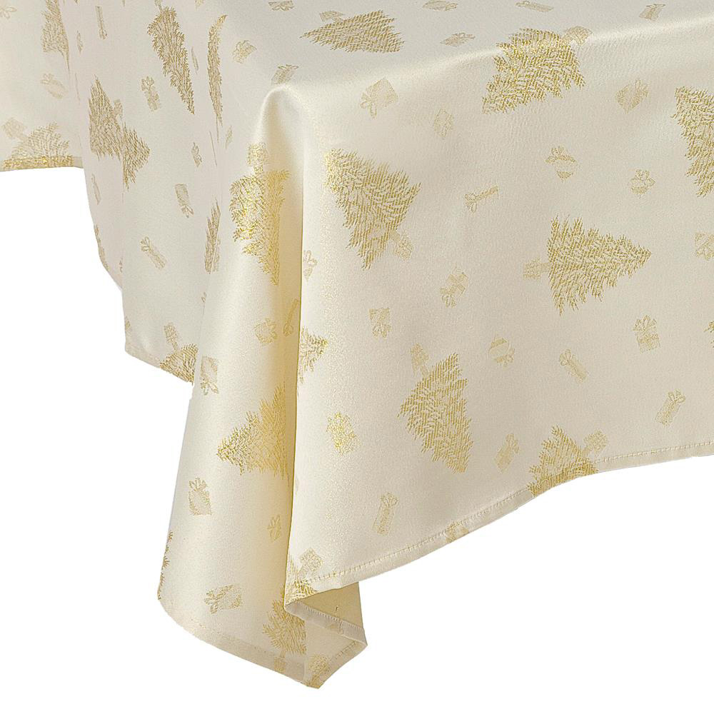 Gold Christmas Tree Tablecloths
