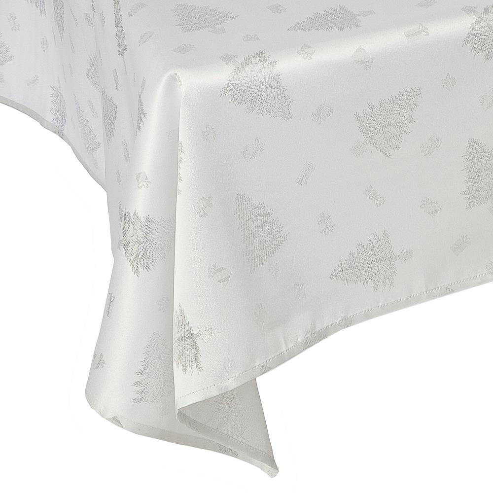 Silver Christmas Tree Tablecloths