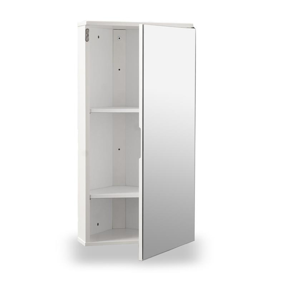 White Gloss Corner Bathroom Wall Cabinet Roman At Home