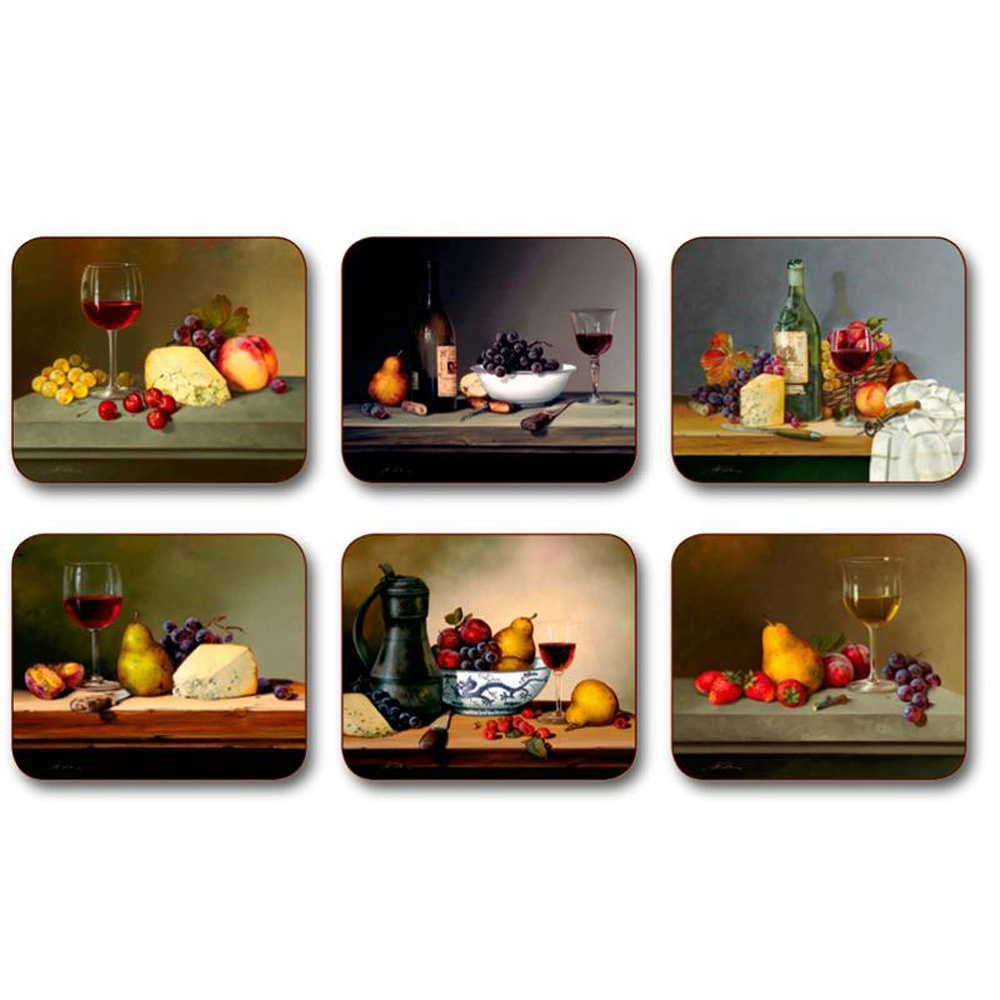 Aperitivo Wine and Cheese Coasters by Jason