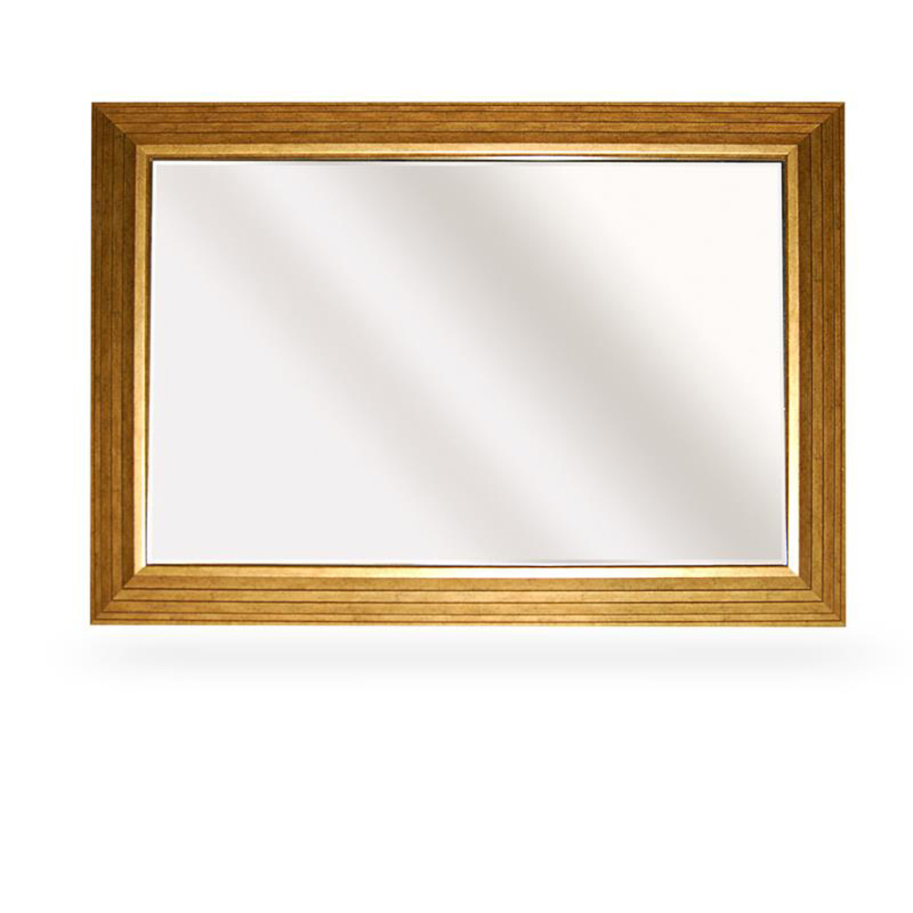 bevelled gold framed large wall mirror roman at home