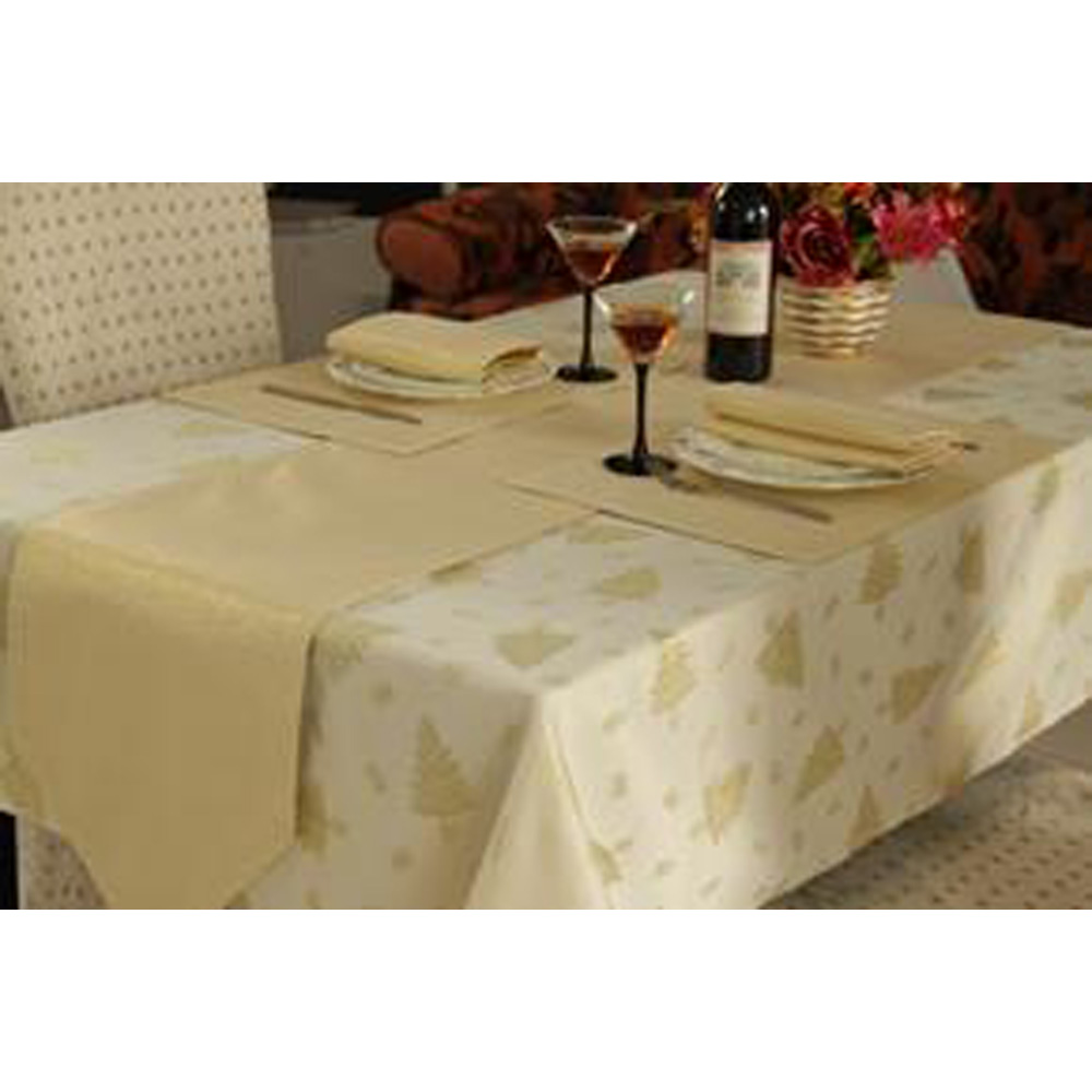 Gold Christmas Large Table Linen Set for 6