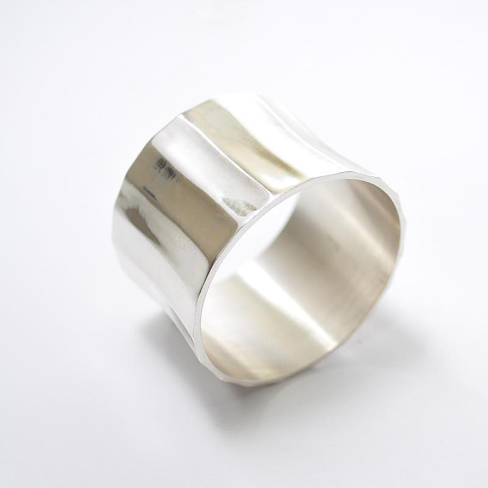 Silver Grooved Napkin Ring