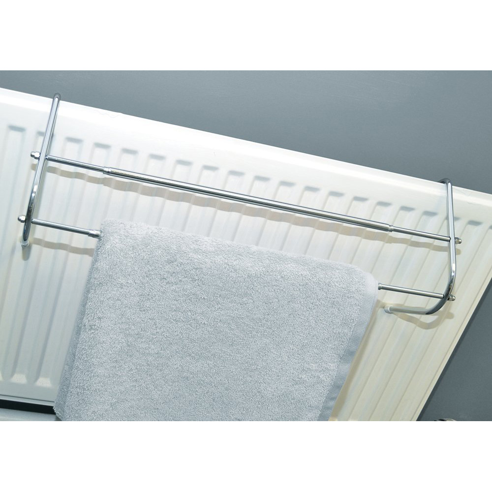 Chrome Finish Expandable Radiator Towel Rail