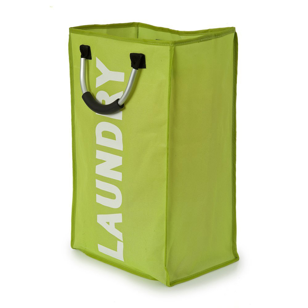 Modern Green & White Laundry Bag with Handles