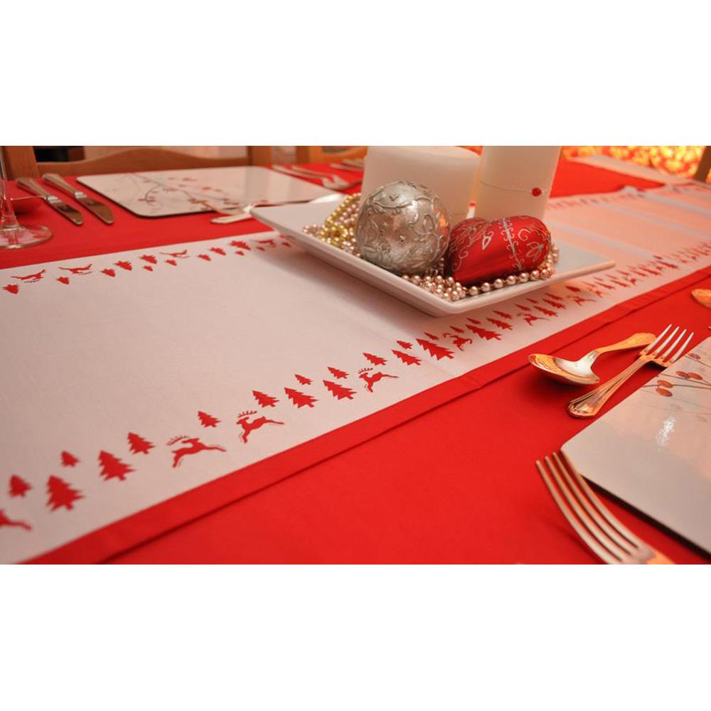 Yuletide Red U0026 White Table Runner