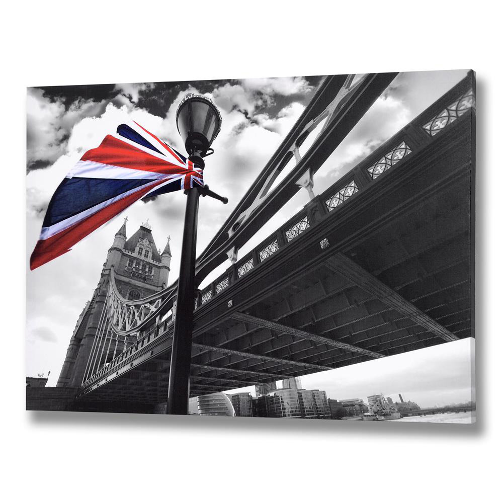 London's Tower Bridge Union Jack Canvas