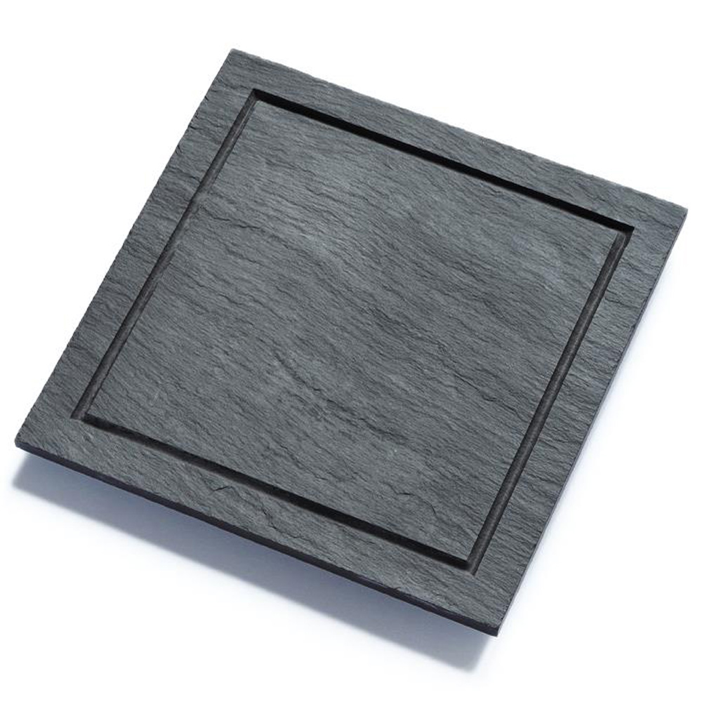 Welsh Slateware Starter Plate - Fine Finish by Welsh Slate & Michael Caines