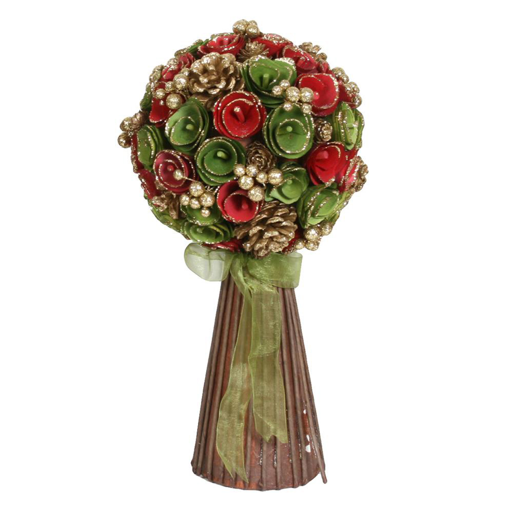 Christmas Tree Floral & Berry Standing Bouquet