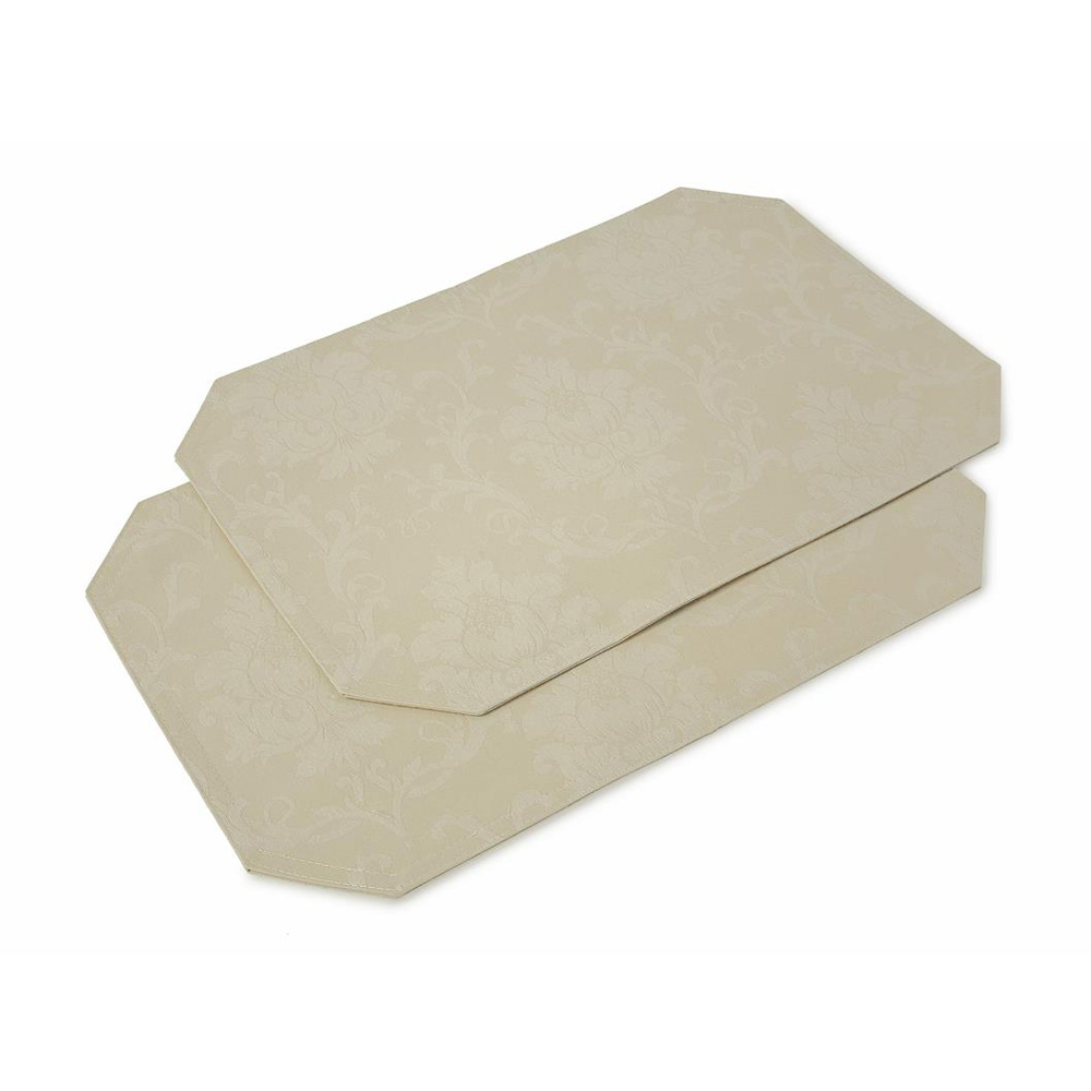 Cream Stone Elegance Placemats   Set Of 2