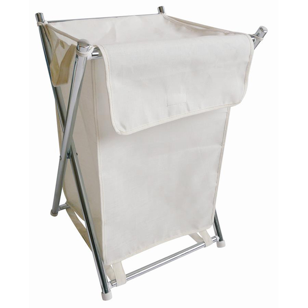 Metal Folding Canvas Laundry Bag
