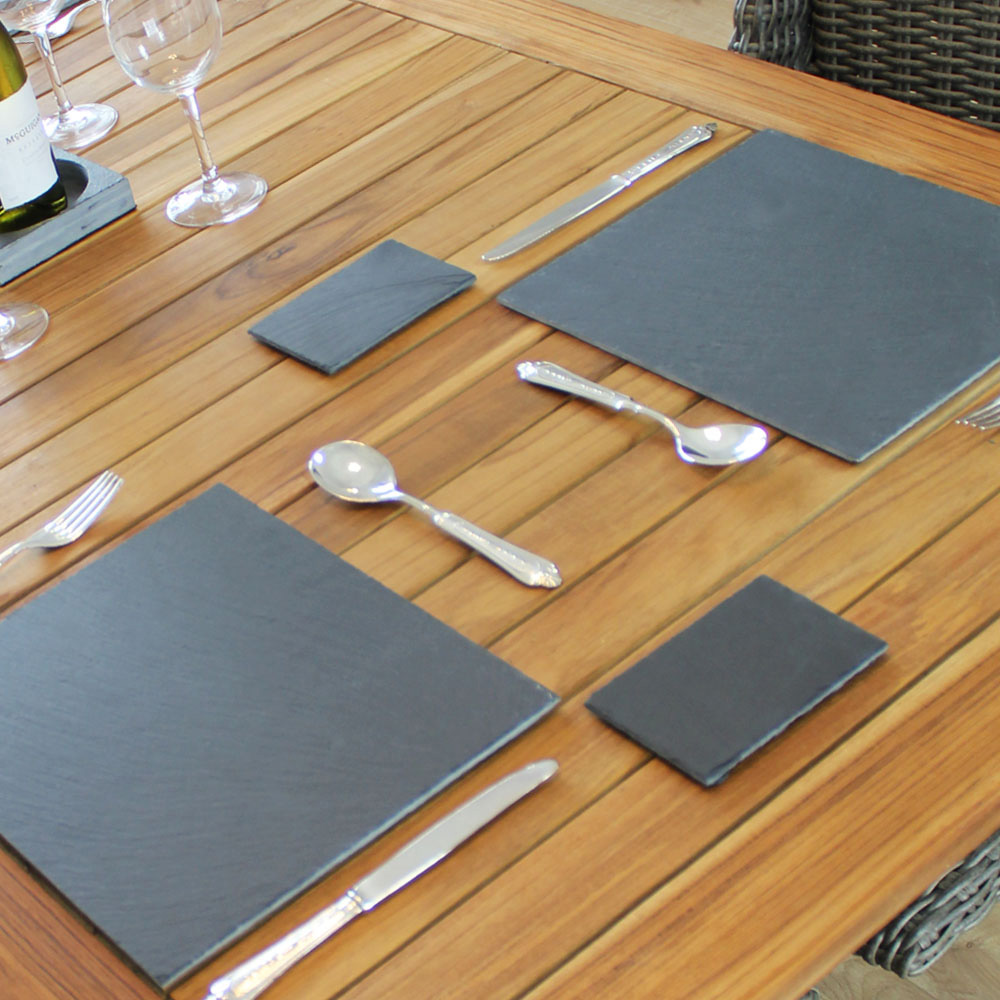 Rectangular Slate Coasters - Pack of 4