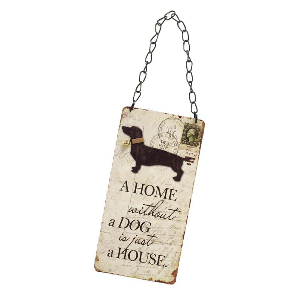 A Home Without Dog is A House Wooden Hanging Sign