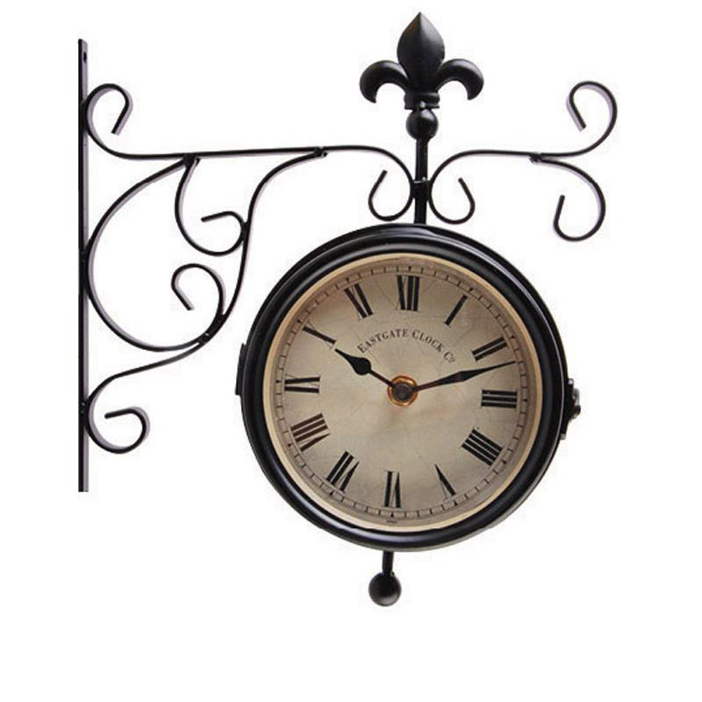 Hanging Station Outdoor Clock & Thermometer