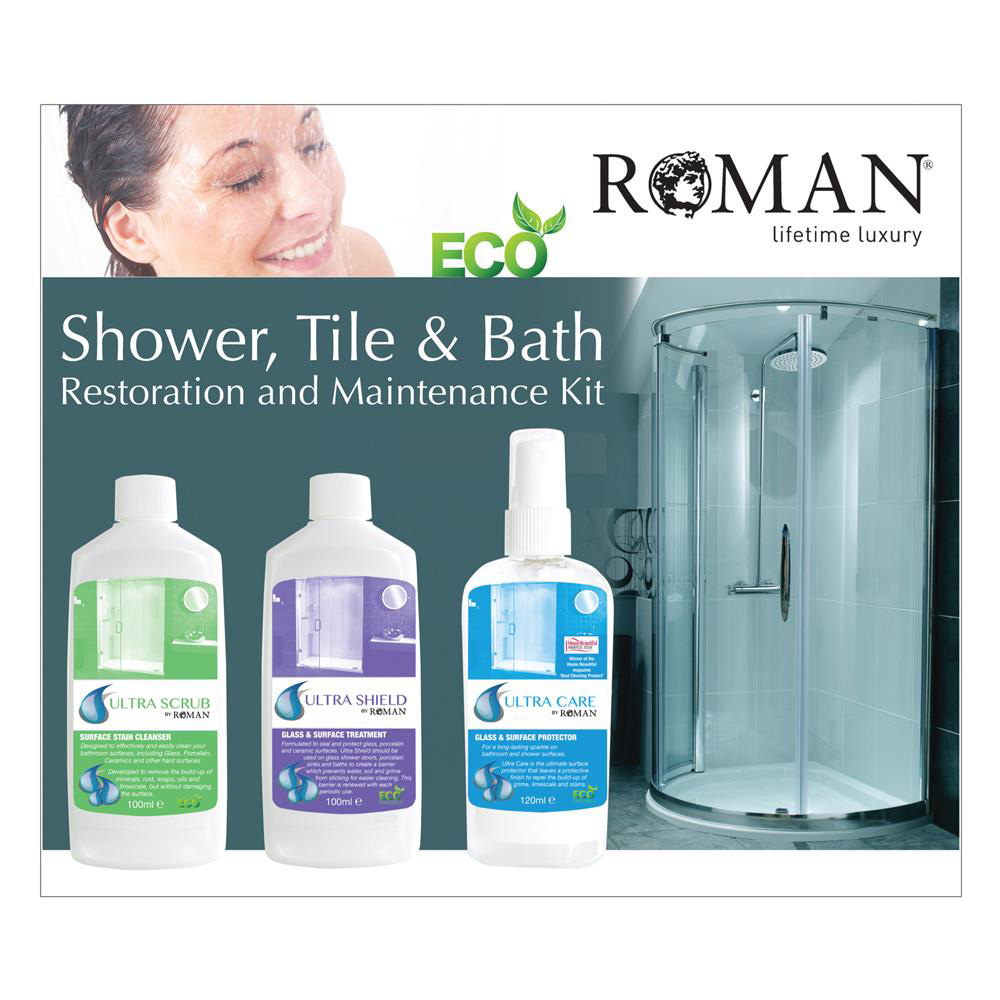 Roman Ultra Care Shower, Tile and Bath Restoration and Maintenance Kit