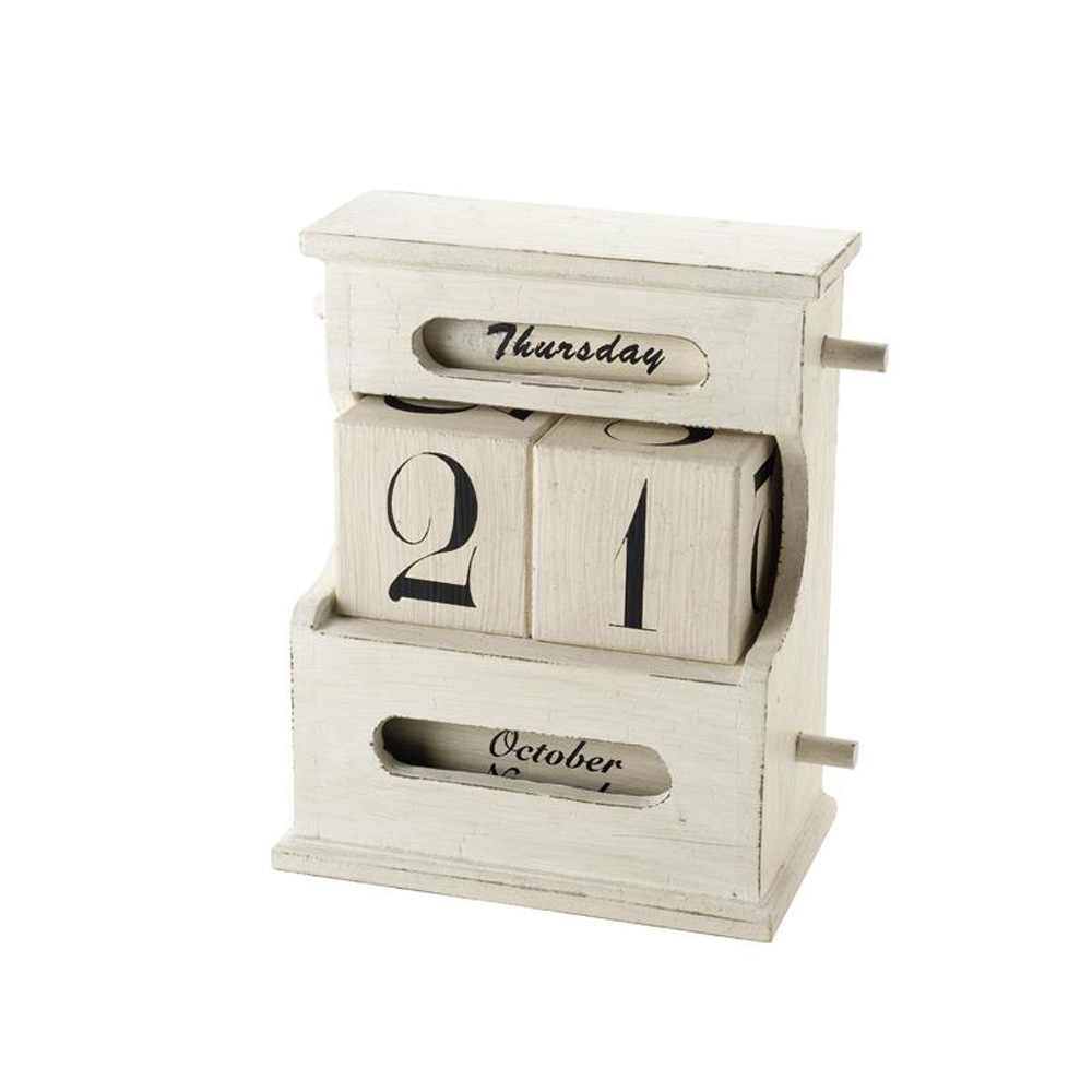 Shabby Chic Cream Desktop Calendar
