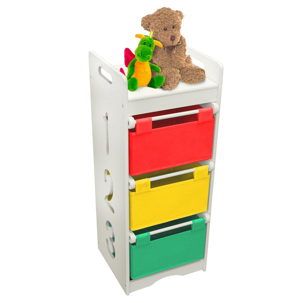 Children's 1-2-3 Coloured Storage Unit