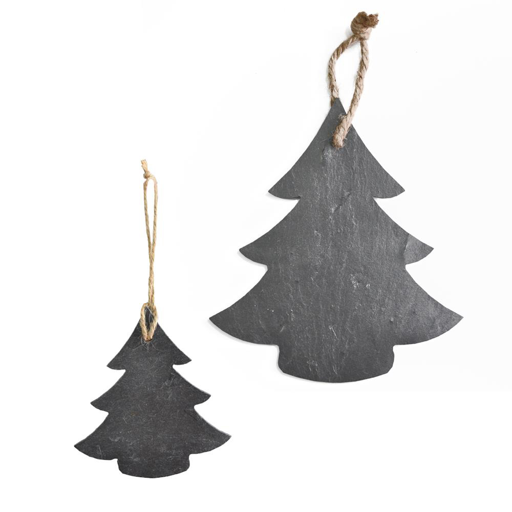 Christmas Tree Slate Door Plaque & Chalkboard medium