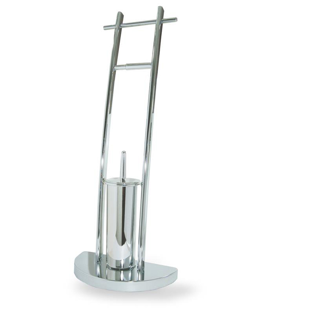 Chrome Toilet Brush and Roll Stand