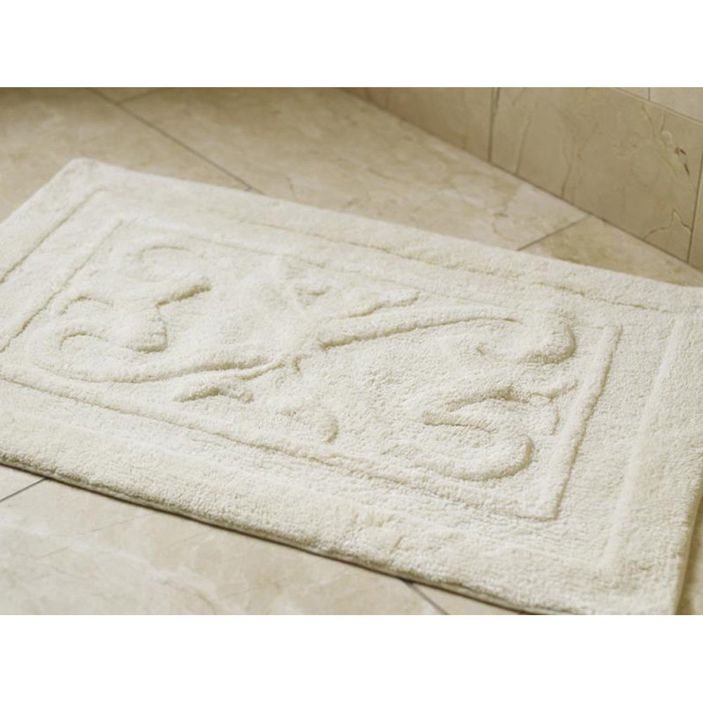 Luxury Bathroom Shower Mat - Crisp White
