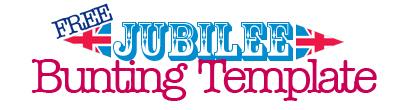 Jubilee Bunting Template