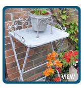 Rustic Grey Folding Garden Table