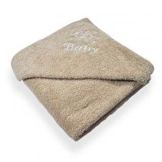 Latte coloured Egyptian Cotton Baby Towel