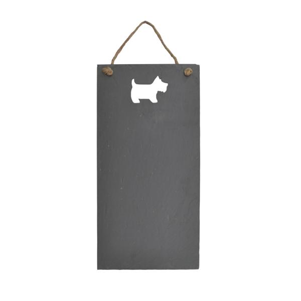 Scottie Dog Cut-out Slate Chalkboard