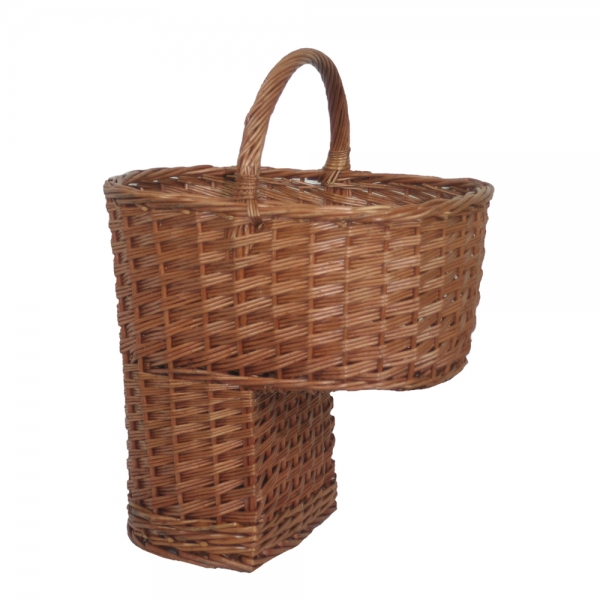 Willow Stair Step Basket with Handle