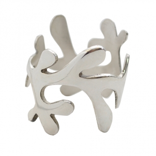 Mistletoe Curved Silver Napkin Ring