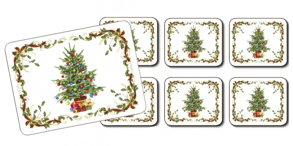 Christmas Tree Bordered Placemats by Jason