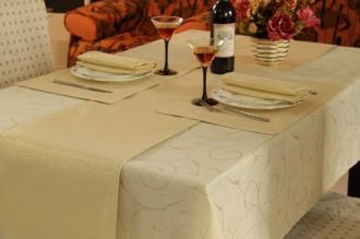 Gold Swirl Regular Table Linen Set for 4